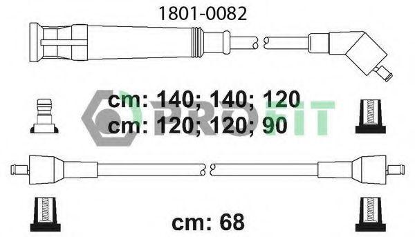Провода высоковольтные комплект PROFIT 18010082
