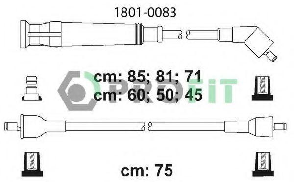 Провода высоковольтные комплект PROFIT 18010083