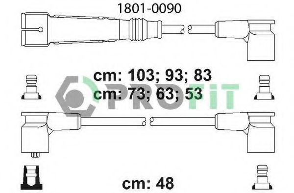 Провода высоковольтные комплект PROFIT 18010090