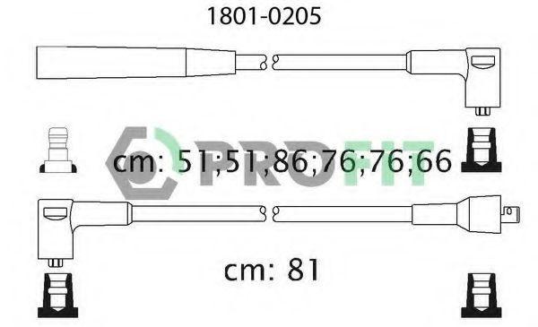 Провода высоковольтные комплект PROFIT 18010205