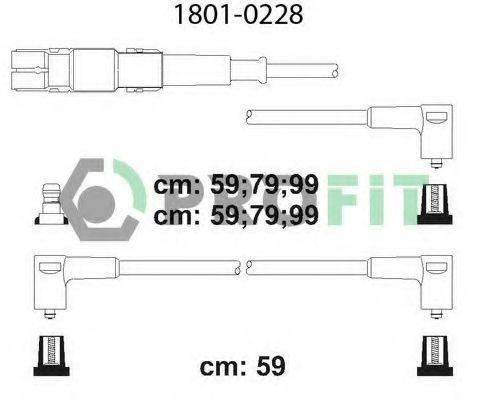 Провода высоковольтные комплект PROFIT 1801-0228