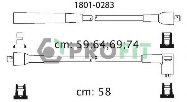 Провода высоковольтные комплект PROFIT 18010283