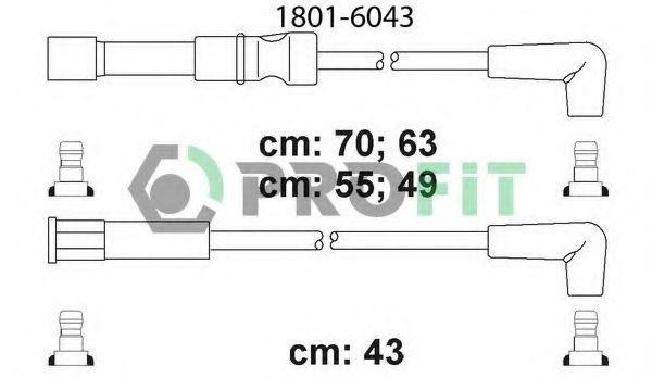 Провода высоковольтные комплект PROFIT 1801-6043