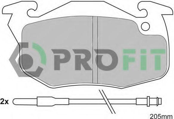 Колодки тормозные PROFIT 50000393