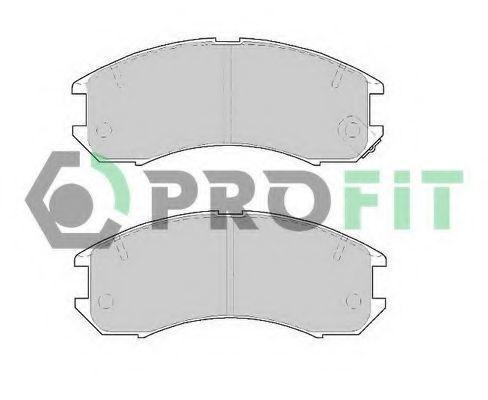 Колодки тормозные передние PROFIT 50000576