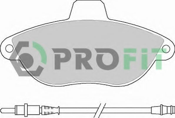 Колодки тормозные керамика PROFIT 50001002C