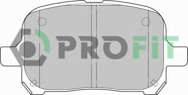 Колодки тормозные передние PROFIT 50001437