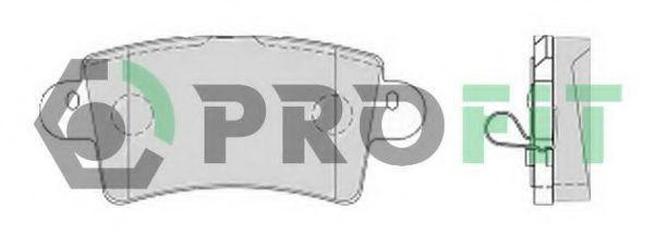 Колодки тормозные PROFIT 50001453  - купить со скидкой