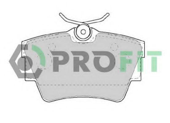 Колодки тормозные задние PROFIT 50001516