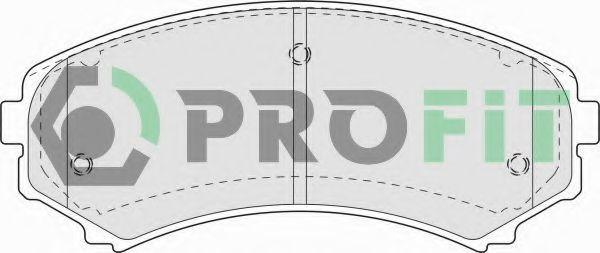 Колодки тормозные передние PROFIT 50001603