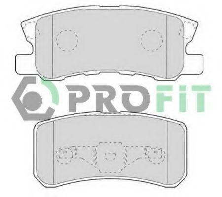 Колодки тормозные задние PROFIT 5000-1604