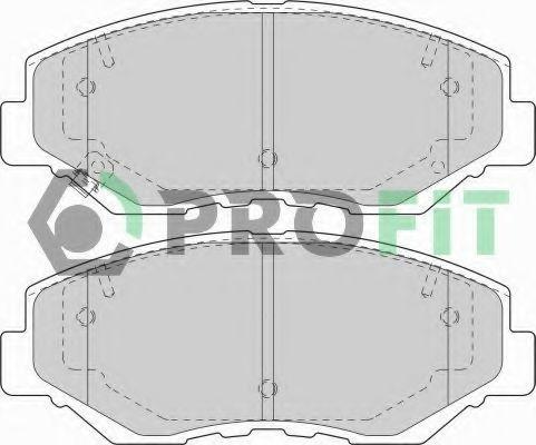 Колодки тормозные PROFIT 5000-1658