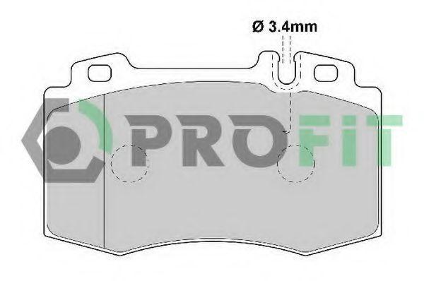 Колодки тормозные PROFIT 50001661