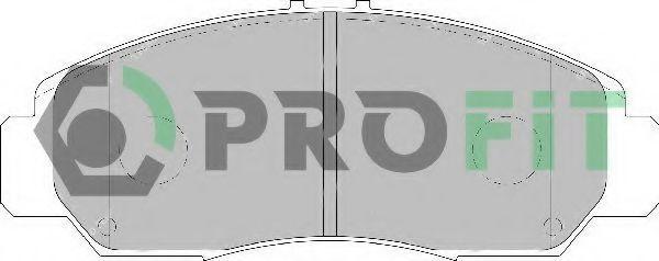 Колодки тормозные передние керамика PROFIT 50001669C