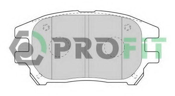 Колодки тормозные передние керамика PROFIT 50001697C