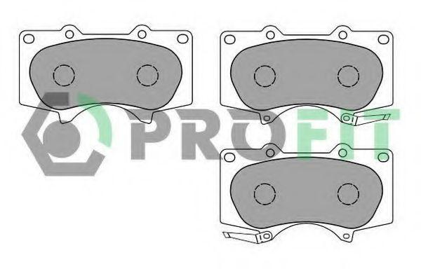 Колодки тормозные передние керамика PROFIT 50001698C
