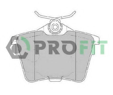 Колодки тормозные задние PROFIT 50001727
