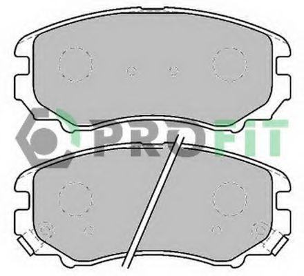 Колодки тормозные керамика PROFIT 50001733C