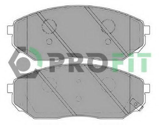 Колодки тормозные передние PROFIT 50001735