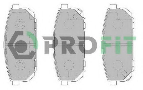 Колодки тормозные задние керамика PROFIT 50001736C