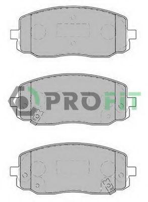 Колодки тормозные передние PROFIT 50001783