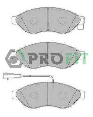 Колодки тормозные передние PROFIT 50001923