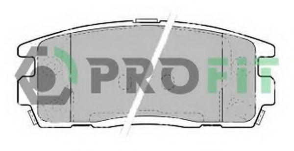 Колодки тормозные задние PROFIT 5000-1935