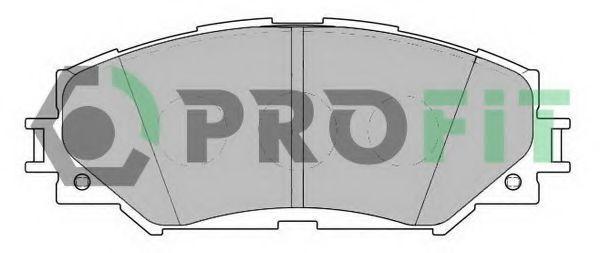 Колодки тормозные передние PROFIT 50002012