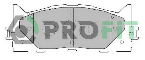 Колодки тормозные передние PROFIT 50002014