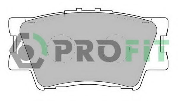 Колодки тормозные задние PROFIT 50002015