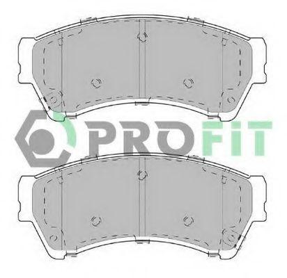 Колодки тормозные передние керамика PROFIT 50002021C