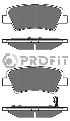 Колодки тормозные задние PROFIT 50002023