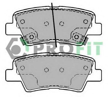 Колодки тормозные задние PROFIT 5000-2028