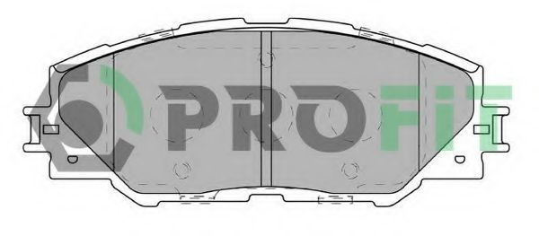 Колодки тормозные керамика PROFIT 50004136C