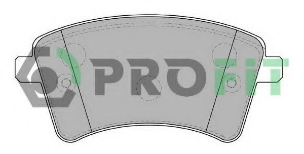 Колодки тормозные передние PROFIT 50004185
