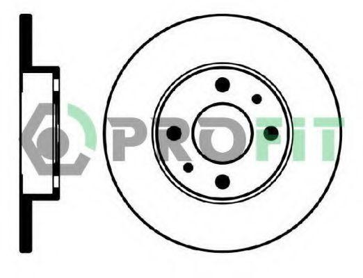 Диск тормозной PROFIT 5010-0140