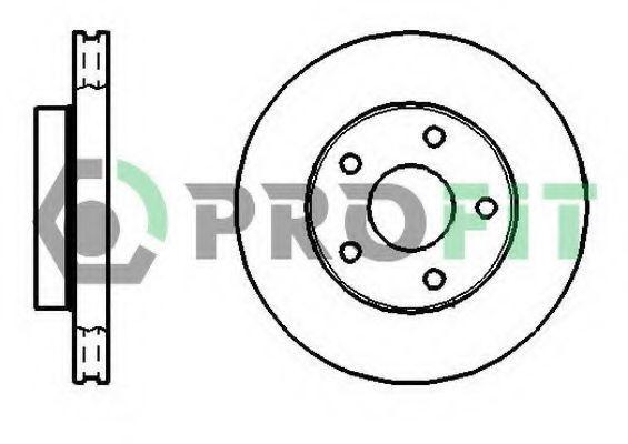 Диск тормозной PROFIT 5010-0180