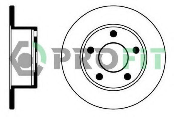 Диск тормозной PROFIT 50100321