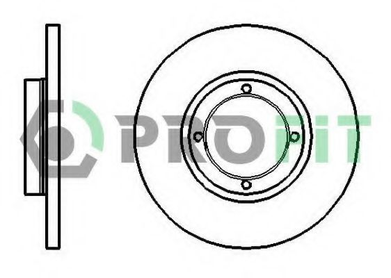 Диск тормозной PROFIT 5010-1076