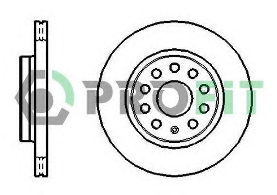 Диск тормозной PROFIT 5010-1165