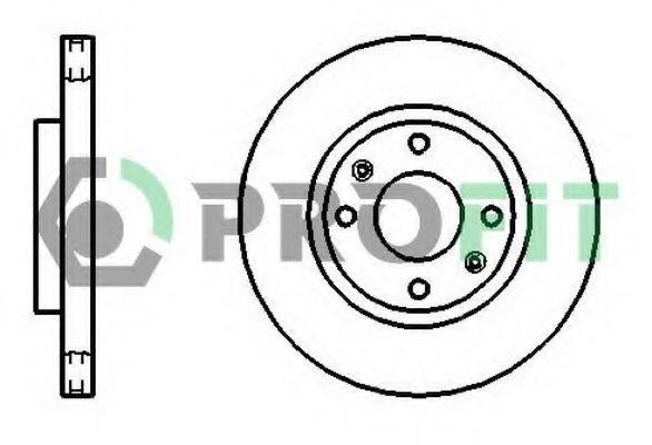 Диск тормозной PROFIT 5010-1522