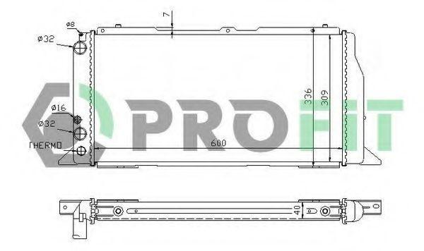 Радиатор охлаждения PROFIT PR0012A2