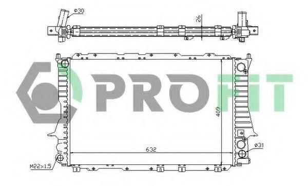 Радиатор охлаждения PROFIT PR0012A3