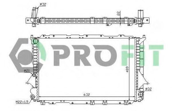 Радиатор охлаждения PROFIT PR0012A5
