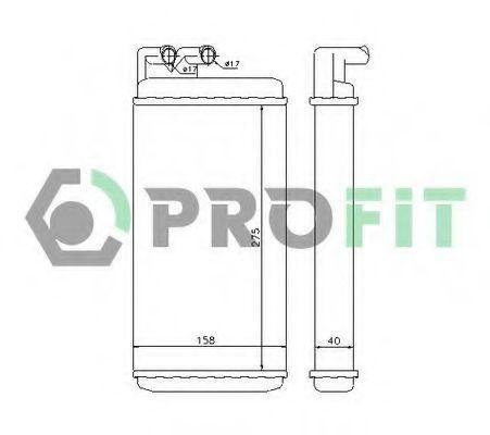Радиатор отопителя салона PROFIT PR 0012N1
