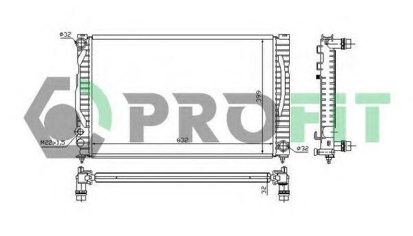 Радиатор охлаждения PROFIT PR 0014A1