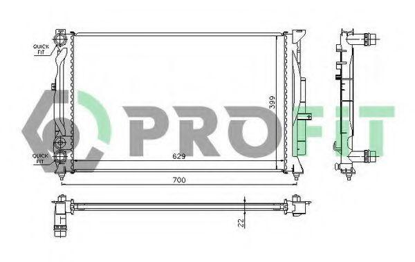 Радиатор охлаждения PROFIT PR 0014A2