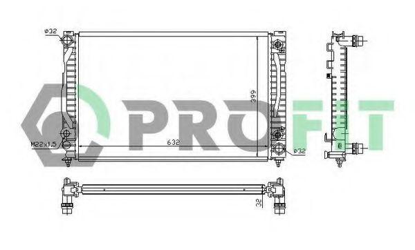Радиатор охлаждения PROFIT PR 0014A3
