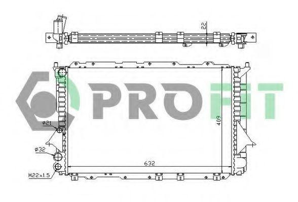 Радиатор охлаждения PROFIT PR0014A4
