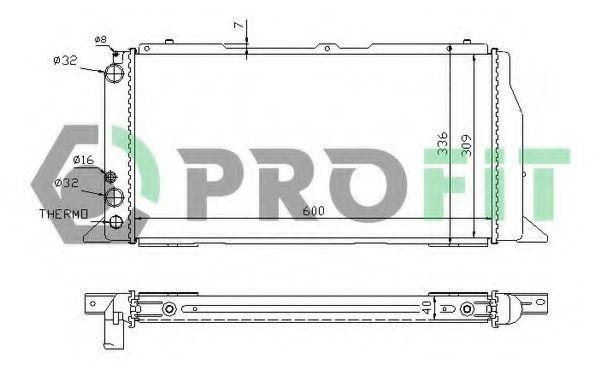 Радиатор охлаждения PROFIT PR0016A1